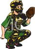 Kid Catcher in Full Protective Gear clipart