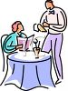 Waiter Taking a Woman's Order clipart