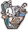 Chef Preparing Food clipart