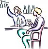 Female Bartender Serving a Customer clipart