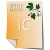 Wine Menu with Grape Leaf Design clipart