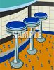 Stools in a Diner clipart