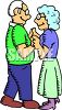 Elderly Couple Slow Dancing clipart