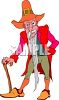 Old Leprechaun with His Walking Stick clipart