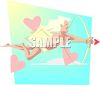 Grown Up Cupid Shooting a Bow and Arrow clipart
