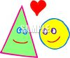 Cute Shapes Looking at Each Other with Love clipart