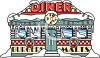 Vintage Diner Covered with Snow clipart