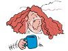 Woman Shaking from Too Much Coffee clipart