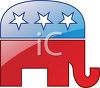 Elephant Campaign Symbol for Republican clipart