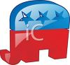 Patriotic Republican Elephant Design clipart