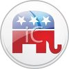 Republican Patriotic Campaign Button clipart