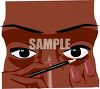 African American Woman Applying Eyeliner clipart
