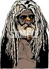 Aborigine Man with Dreadlocks clipart