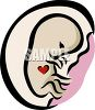Embryo with a Heart Inside It's Mother clipart