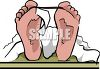 Toe Tag on a Dead Man's Feet clipart