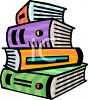 Stack of Cartoon Text Books  clipart