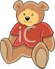 Cute Teddy Bear Stuffed Animal clipart