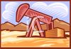 Oil Well in the Desert clipart