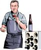 Wine Maker Tasting a Red Wine clipart