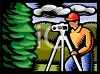 Surveyor Measuring Land clipart