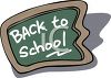 Chalkboard with a Back to School Message in Chalk clipart