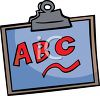 ABC Letters on a Clipboard clipart