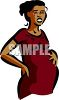Pregnant Ethnic Woman in Labor clipart
