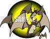 Cartoon Bats for Halloween clipart