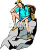Woman Taking a Break While Hiking clipart