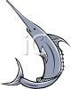 Deep Sea Fish-Swordfish  clipart