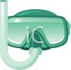 Scuba Diving Goggles and Snorkel clipart