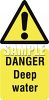 Deep Water Danger Sign clipart