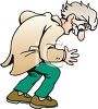 Old Man Looking Down clipart