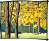 Woodsy Meadow in Autumn clipart