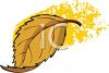 Falling Autumn Leaf clipart