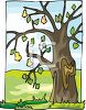 Pear Tree at the End of Harvest clipart