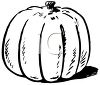 Black and White Pumpkin for Thanksgiving clipart