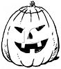 Black and White Carved Pumpkin clipart