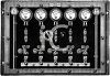 Vintage Black and White Dials and Switches Console clipart