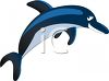 Cartoon of a Funny Porpoise in the Middle of a Jump clipart