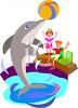 Kids at a Dolphin Show clipart