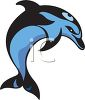Black and Blue Dolphin Design clipart