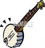 Cartoon Banjo clipart