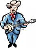 Traditional Bluegrass Musician Playing Banjo clipart