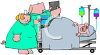 Cartoon of Swine Doctors Treating a Pig clipart