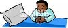 African American Boy Saying His Prayers clipart