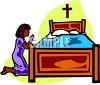 Little Girl Saying Her Prayers clipart