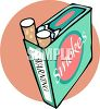 Retro Pack of Cigarettes clipart