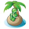 Character of a Man Stranded on a Desert Island clipart