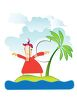 Castaway on a Deserted Island Cartoon clipart